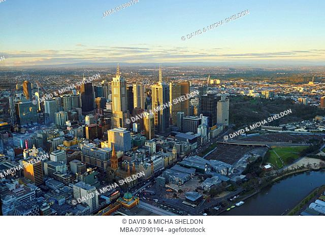 View from the Eureka Tower over Melbourne, Victoria, Australia, Oceania