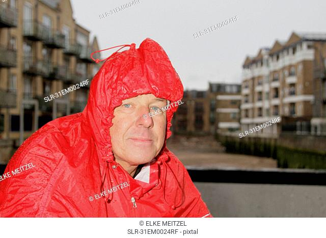 Man in raincoat