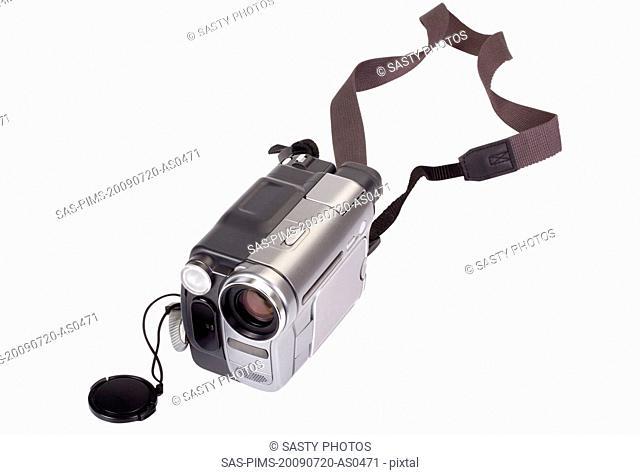 Close-up of a home video camera