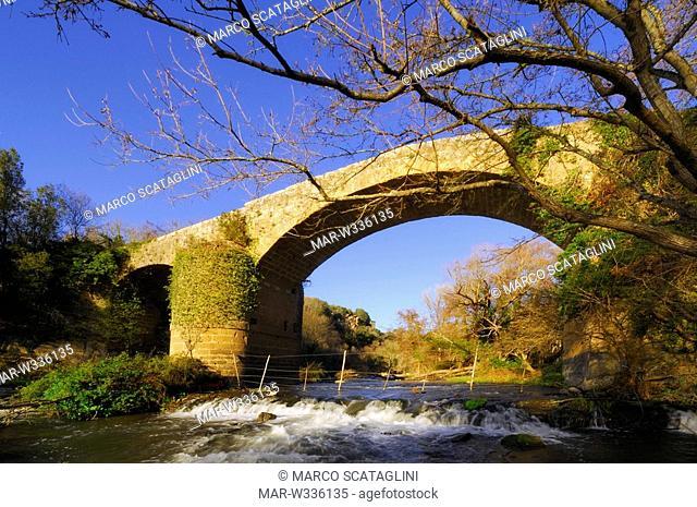 traponzo river, tuscia, lazio, italy