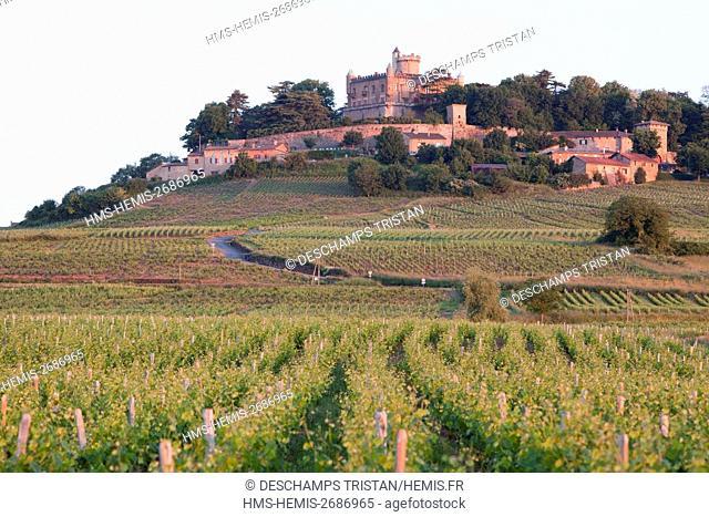 France, Rhone, Beaujolais région, Montmelas Saint Sorlin castle
