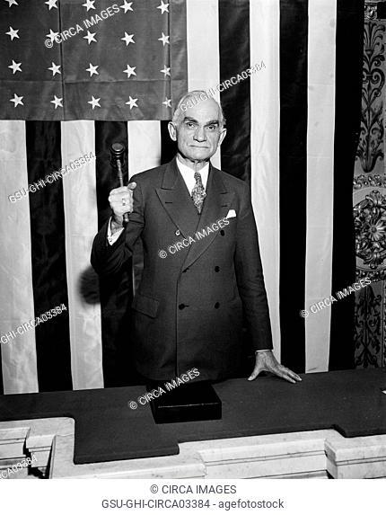 Joseph Byrns, Speaker of the United States House of Representatives, Portrait with Gavel, Washington DC, USA, Harris & Ewing, December 1935