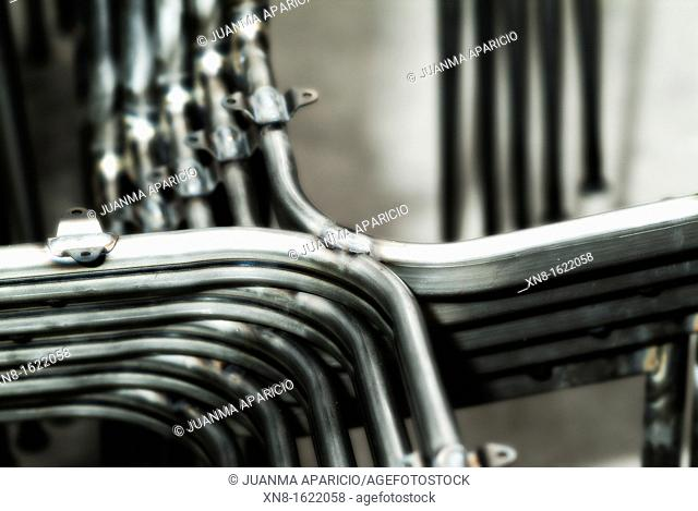 Metal structures for the construction of chairs