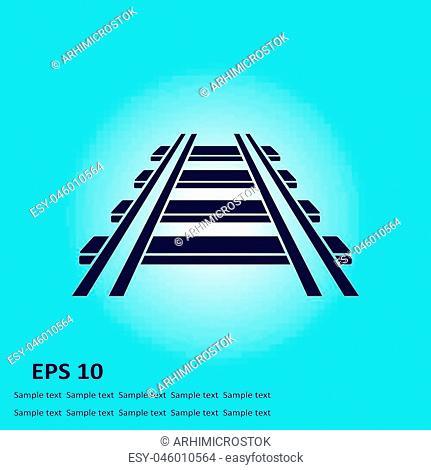 Railroad icon. Train sign. Track road symbol