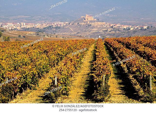 San Vicente de la Sonsierra desde Briones, La Rioja, Spain