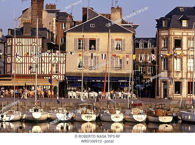 France, Normandy, Honfleur, the harbour