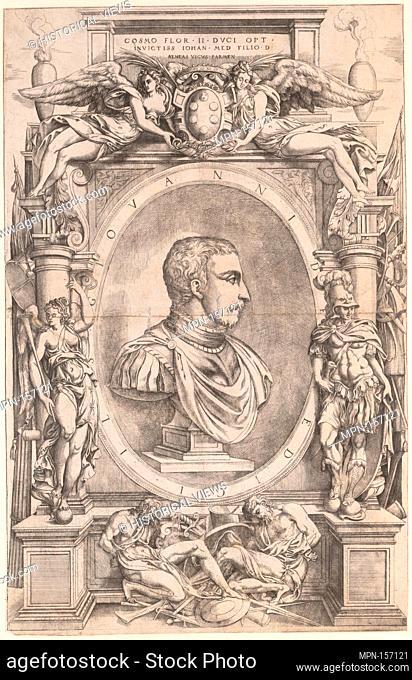 Giovanni de' Medici. Artist: Engraved by Anonymous, Italian, 16th century; Artist: After Enea Vico (Italian, Parma 1523-1567 Ferrara); Date: ca