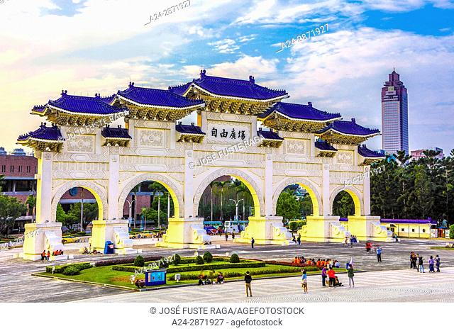 Taiwan, Taipei City, Gate to Liberty Square and Chiang Kai-shek Hall