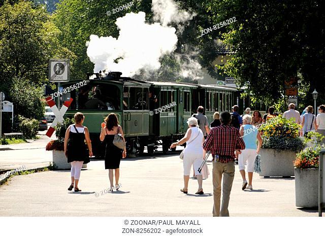 Chiemsee Bahn Steam Train, Prien Stock Chiemgau Upper Bavaria Germany