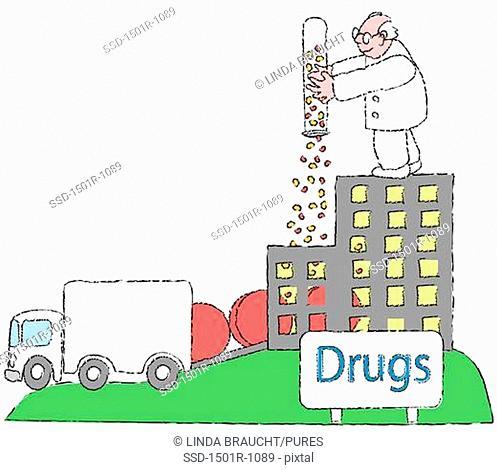 Rolling Pills, illustration
