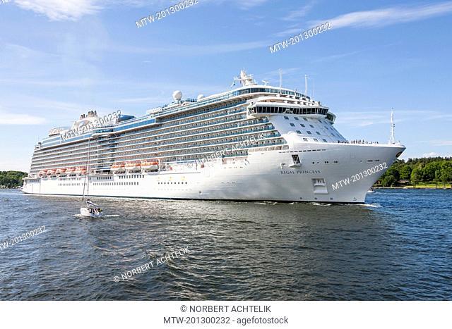 Royal cruise ship in sea, Stockholm, Sweden