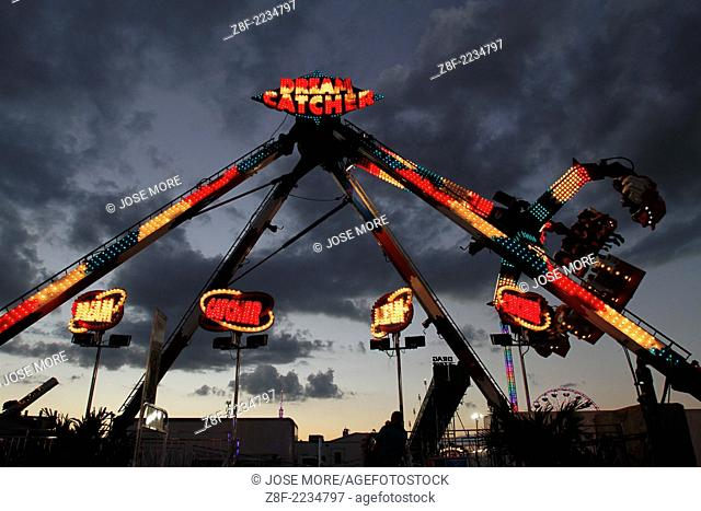 Food and rides are the main attraction around the midway of the South Florida State Fair