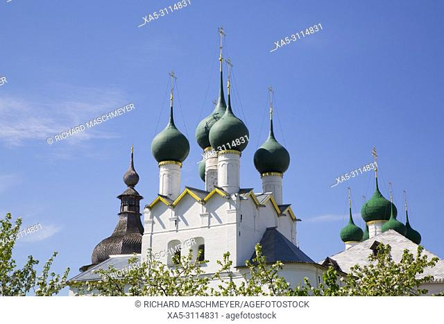 Church of Gregory the Theologian, Fruit Trees (foreground), Kremlin, Rostov Veliky, Golden Ring, Yaroslavl Oblast, Russia