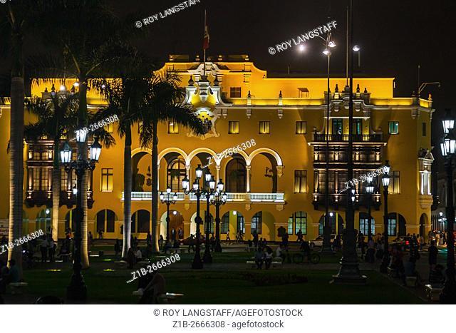 Lima City Hall in the Plaza de Armas