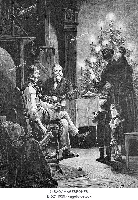 Fritz Reuter's Christmas, Christian Friedrich Ludwig Heinrich Reuter, 1810-1874, one of the most important German poets and writers of the Low German language