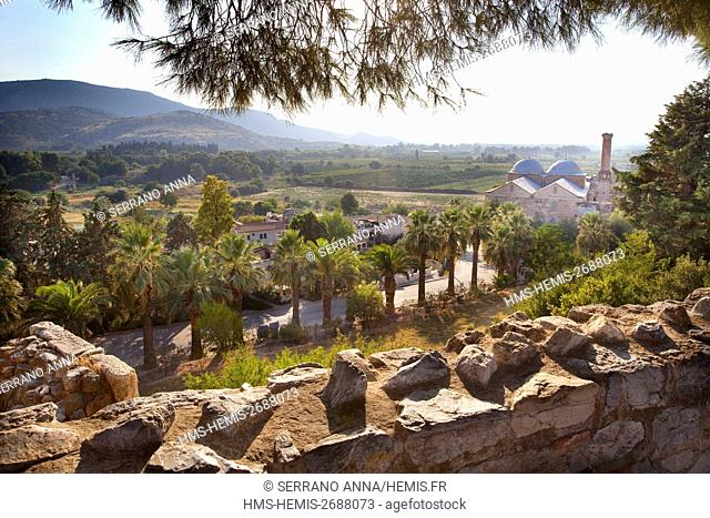 Turkey, Aegean Region, Izmir Province, Selcuk, Selçuk, Efes, Isa Bey Mosque from Basilica of Saint John, listed as World Heritage by the UNESCO