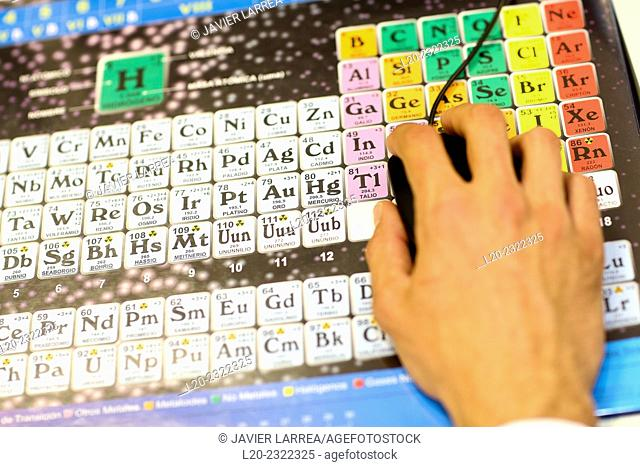 Periodic Table. Technological Services to Industry. Tecnalia Research & Innovation, Donostia, San Sebastian, Gipuzkoa, Basque Country, Spain