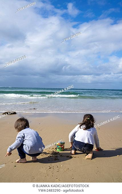Children playing on beach, Cronulla, Sydney, Australia
