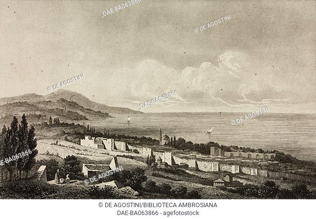 View of Trabzon (Trebizond), Turkey, engraving by Lemaitre, Lalaisse and Preaux, from Turquie by Joseph Marie Jouannin (1783-1844) and Jules Van Gaver