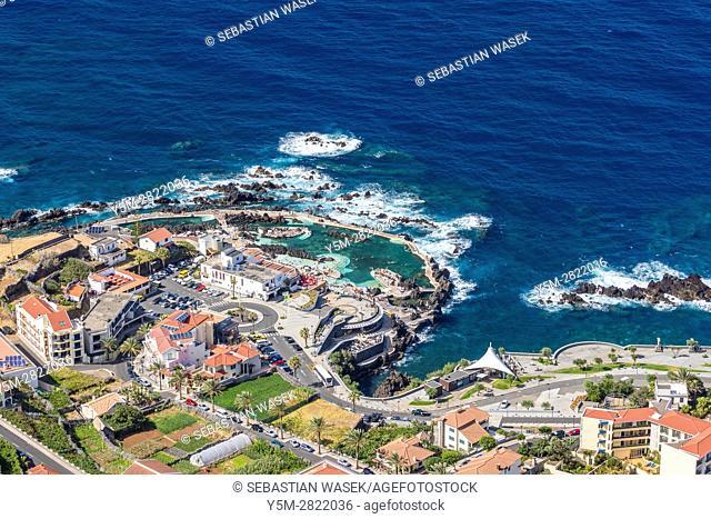 Porto Moniz seen from Miradouro do redondo at North Coast of Madeira, Portugal
