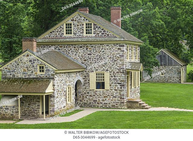 USA, Pennsylvania, King of Prussia, Valley Forge National Historical Park, Battlefield of the American Revolutionary War