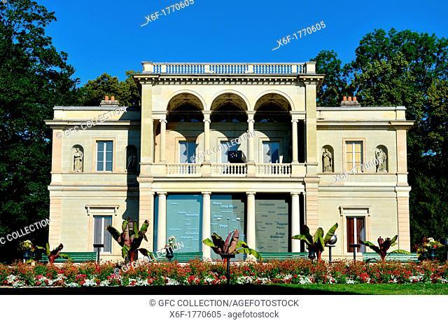Villa Bartholoni, housing the Museum of the History of Science, park La Perle du Lac, Geneva, Switzerland