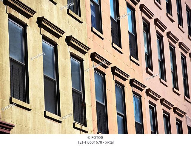 Windows on side of building