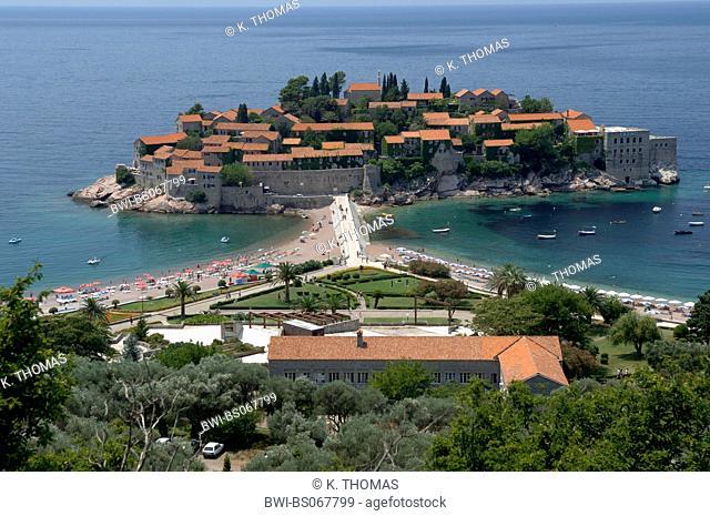 hotel peninsula Sveti Stefan, Serbia-Montenegro, Montenegro, Sveti Stefan