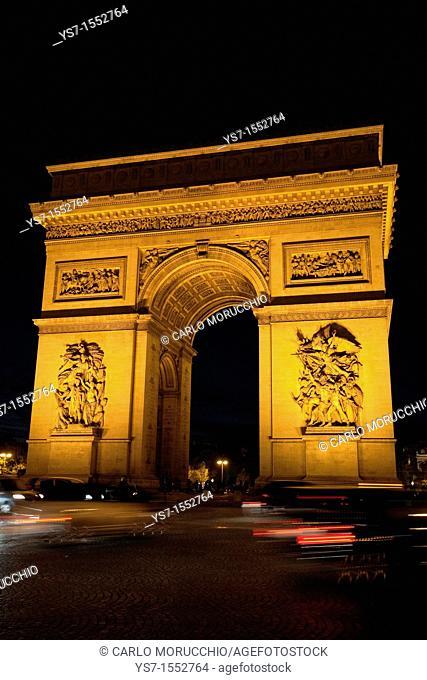 Arc de triomphe in Paris, France, Europe