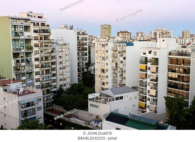 Apartment buildings in cityscape, Buenos Aires, Argentina