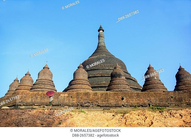 Myanmar, Rakhine state, Mrauk-U, Shittaung pagoda