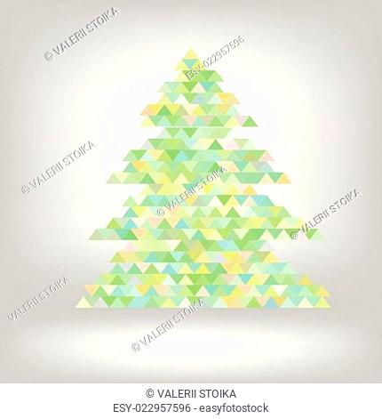 abstract green spruce