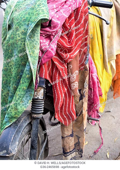 Piled fabric in Jaipur, Rajasthan, India