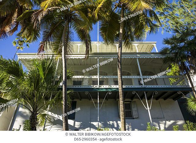 U. S. Virgin Islands, St. Thomas, Charlotte Amalie, Kongens Gade Street, house detail