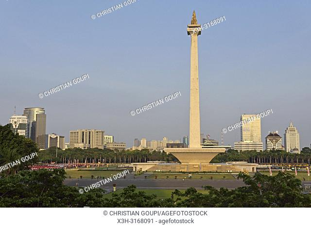 Monumen Nasional (National Monument), Merdeka Square, Jakarta, Java island, Indonesia, Southeast Asia