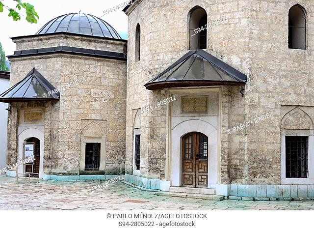 Patio of Gazi Hursev-Begova mosque, Sarajevo, Bosnia and Herzegovina