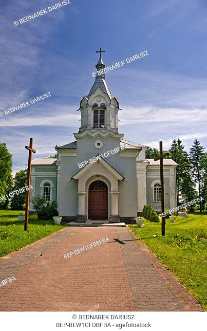 St. John the Baptist` s Church, which was built in 1870 as Uniate-Orthodox Church, in Czerniczyn, village in Lublin voivodeship. Poland