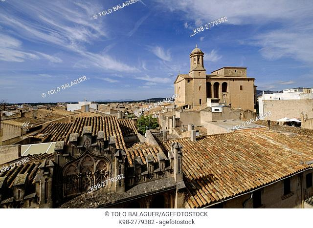 Llucmajor, Sant Miquel Parish church. Mallorca, Balearic Islands