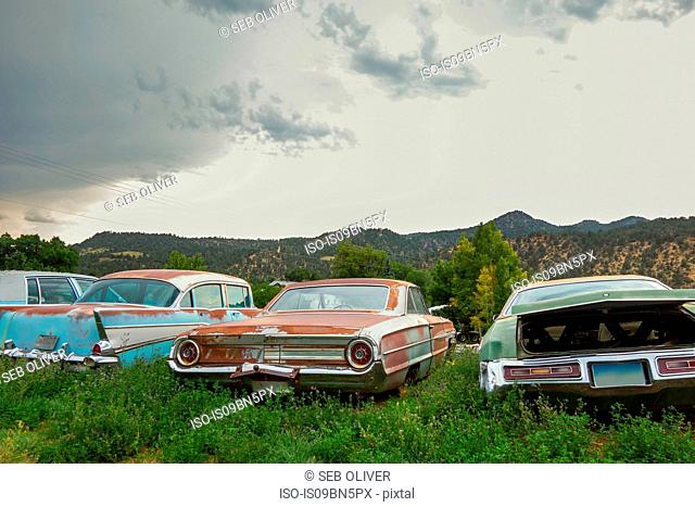 Vintage car graveyard, Utah USA