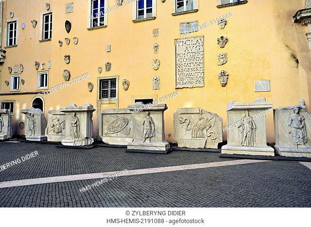 Italy, Latium, Rome, the historic center listed as World Heritage by UNESCO, the court of the Musei Capitolini