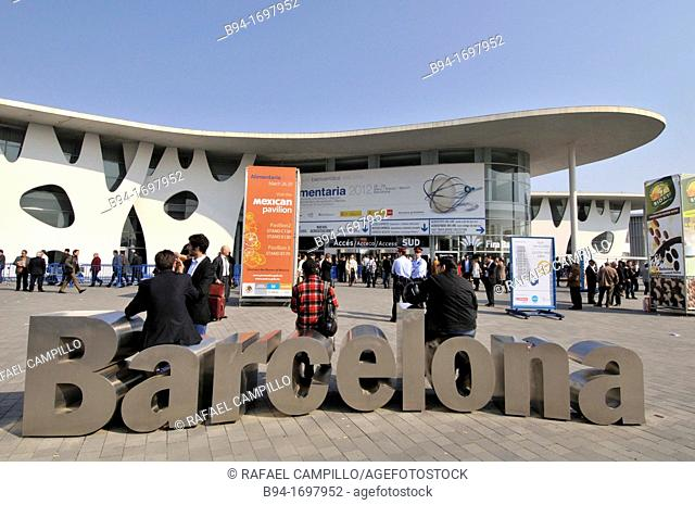 Fira de Barcelona trade fair ground, Gran Via venue designed by architect Toyo Ito, L'Hospitalet de Llobregat, Barcelona, Catalonia, Spain