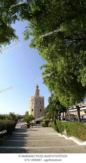 Gold tower in Seville, Andalusia, Spain