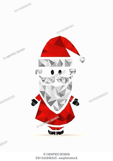 Geometric contemporary Santa Claus