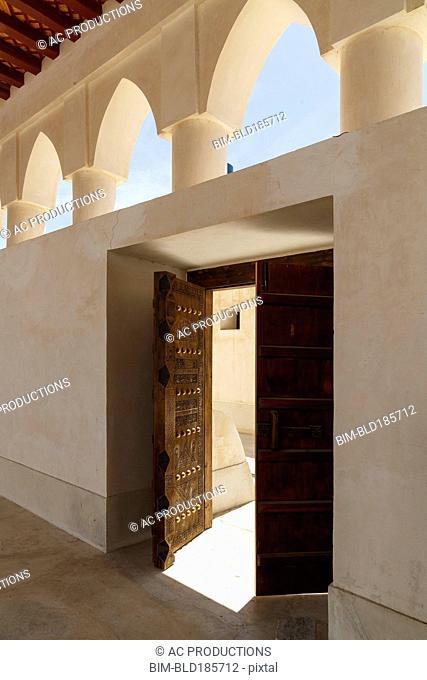 Open doors of mosque