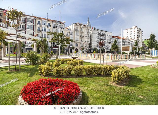 Maritime promenade Castro Urdiales, Cantabria, Spain