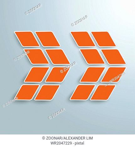 Rhombus Orange Arrow PiAd