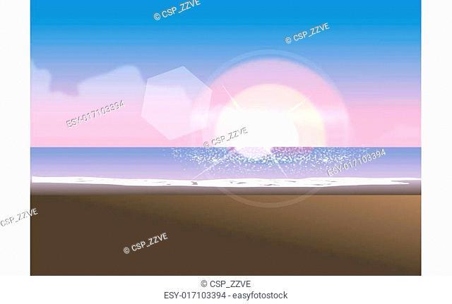 Wave washing onto beach