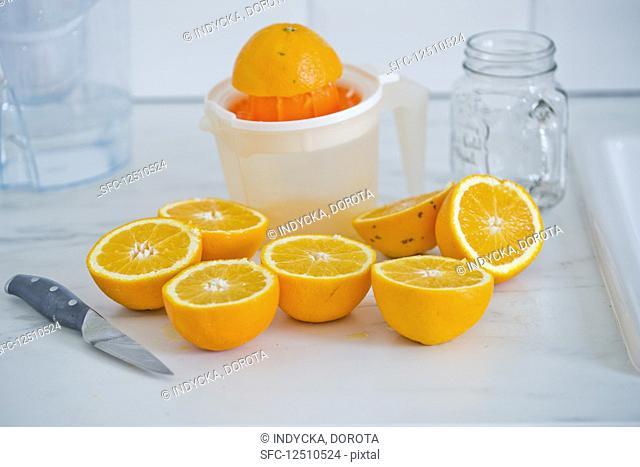 Half oranges