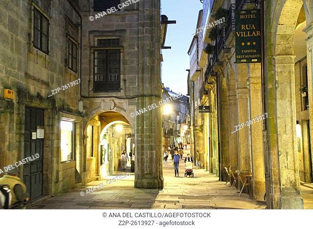 Santiago de Compostela by night Spain