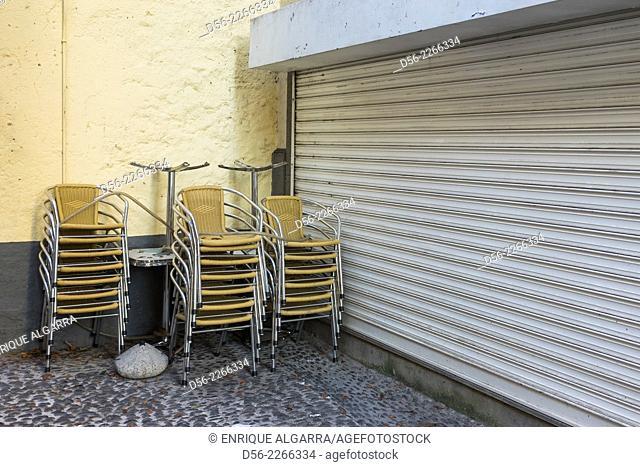 Closed bar, Funchal, Madeira Island, Portugal 2014